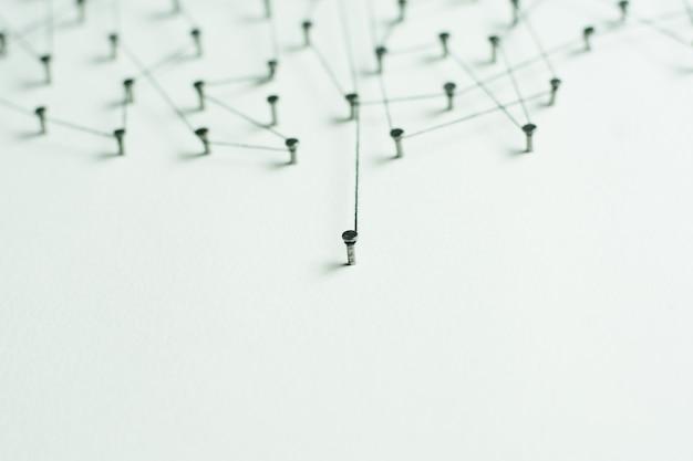 Collegamento di entità. rete, networking, social media, astratto di comunicazione internet.