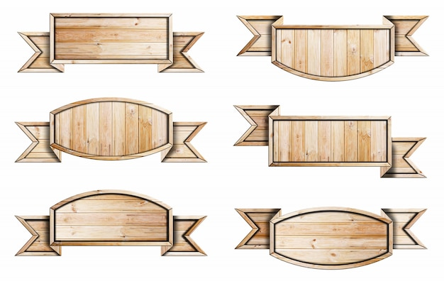 Collezione di cartelli in legno