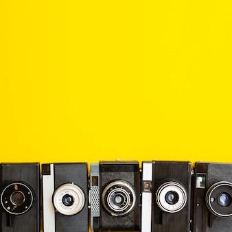 Collezione di dispositivi elettronici della fotocamera