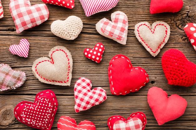 Collezione di ornamenti di san valentino