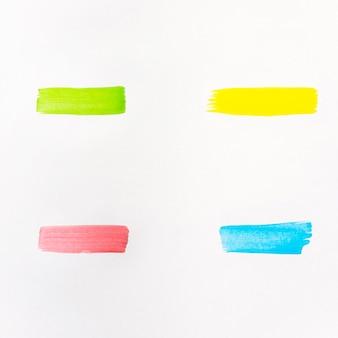 Collezione di pennelli dipinti ad acquerello