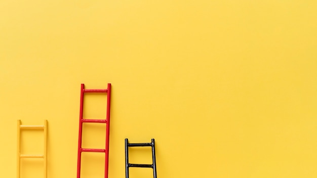 Collezione ladder di copia-spazio