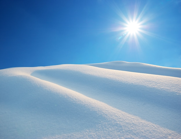 Colline di neve