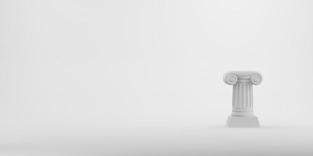 Colonna astratta del podio su bianco