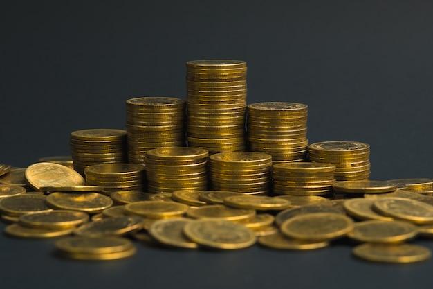 Colonne di monete, pile di monete