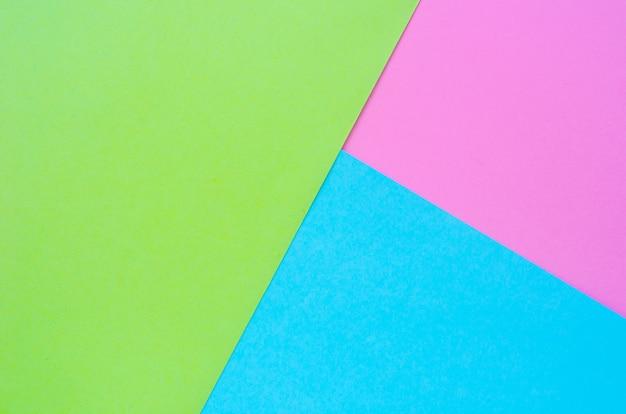 Colorato di sfondo di carta rosa, verde e blu