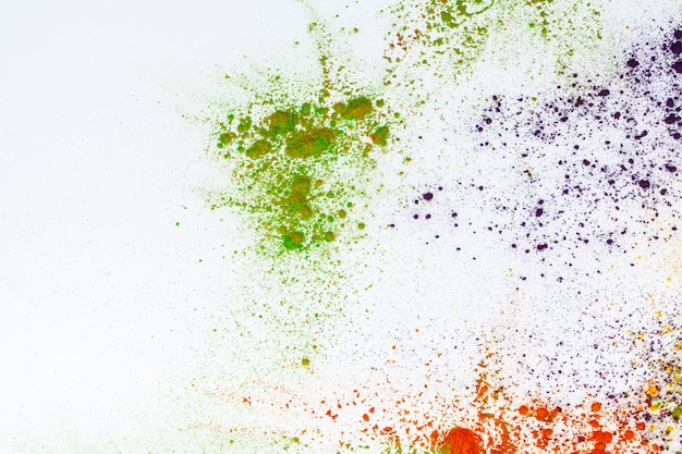 Colorato fatto di coloranti indiani colorati