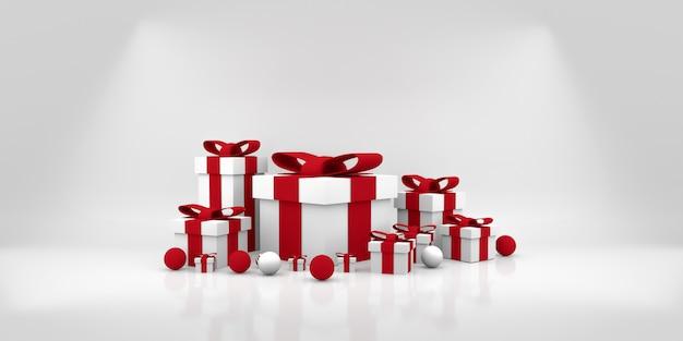 Colore confezione regalo mentre. illustrazione 3d