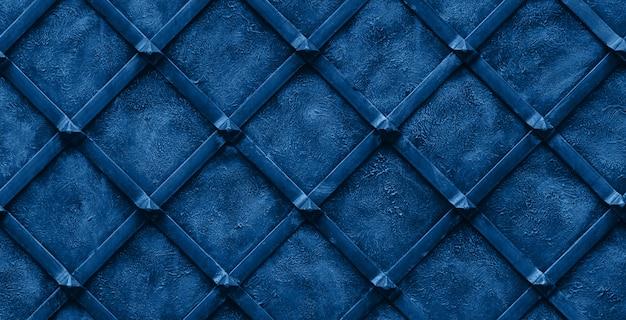 Colore dell'anno 2020 - blu classico. sfondo di metallo