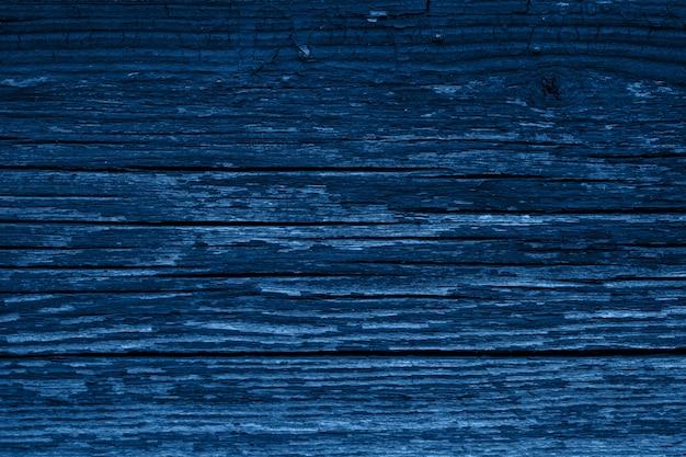 Colore dell'anno 2020 - blu classico. struttura di legno
