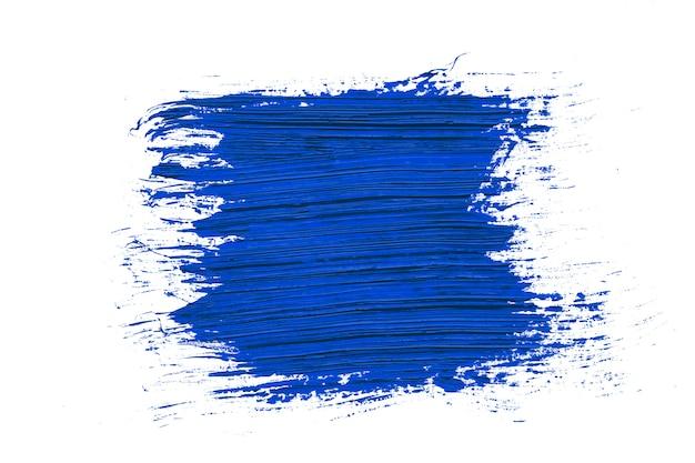 Colore dell'anno 2020 sfondo blu classico tratto di pennello