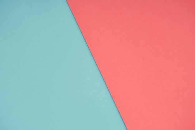 Colore della carta pastello blu e rosa per lo sfondo