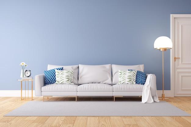 Colore pastello minimalista e interni moderni