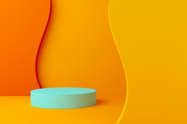 Colore pastello scena astratta con geometria forma podio sfondo