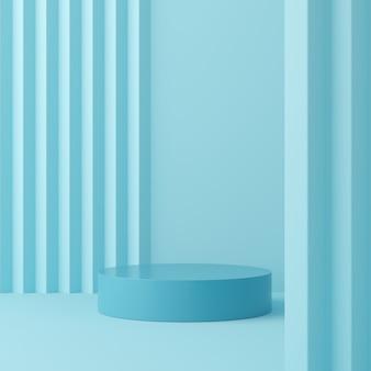 Colore pastello scena astratta con sfondo di podio forma geometria