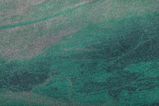 Colore verde scuro del fondo di arte astratta. quadro multicolore su tela.