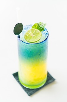 Colorful mocktail limone