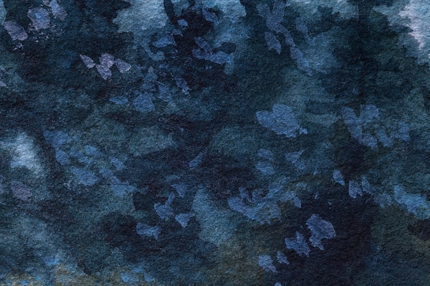 Colori dei blu navy del fondo di astrattismo. pittura ad acquerello su tela.