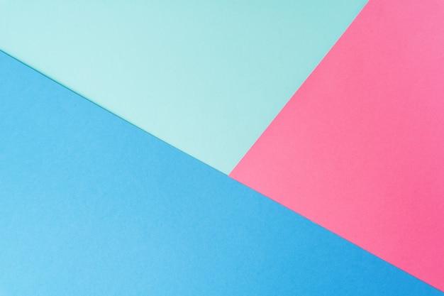 Colori pastello creativi carta sfondo, vista dall'alto.