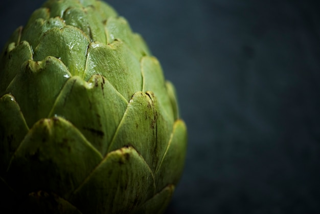 Colpo a macroistruzione della verdura del carciofo