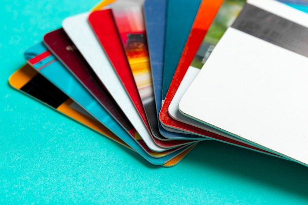 Colpo alto vicino della carta di credito