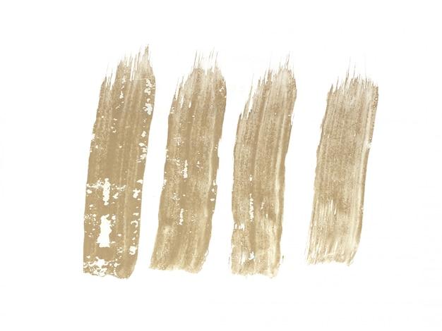 Colpo di pennello isolato su sfondo bianco