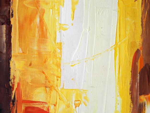 Colpo di spazzola variopinto della pittura a olio sul fondo e sulla struttura dell'estratto della tela