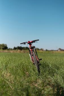 Colpo pieno di una bicicletta in natura