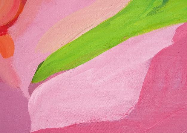 Colpo rosso della spazzola della pittura a olio sul fondo e sulla struttura dell'estratto della tela