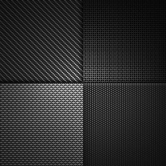 Combinazione moderna astratta di design materiale strutturato in fibra di carbonio nero.