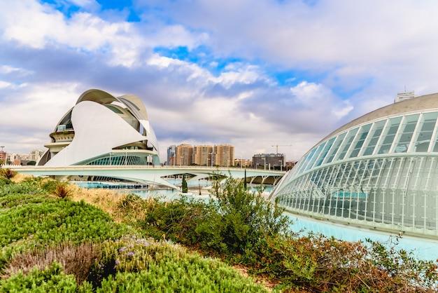 Complesso della città delle arti e delle scienze uno degli edifici più visitati di valencia.