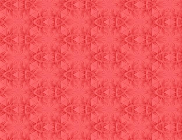 Complesso volumetrico seamless pattern vivente illustrazione di colore corallo 3d