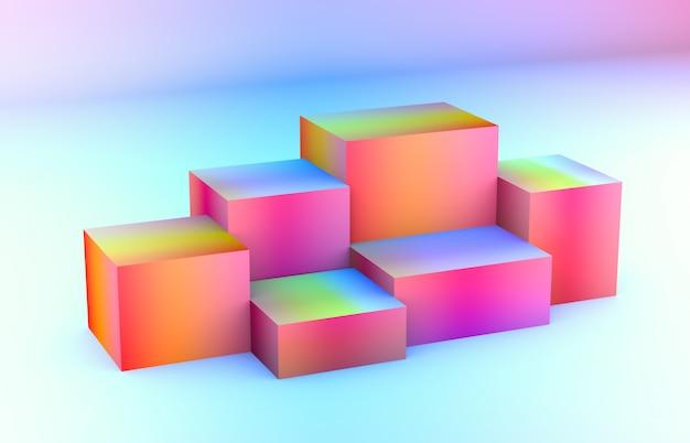 Composizione 3d forme geometriche astratte 3d