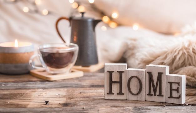 Composizione atmosfera casalinga festosa
