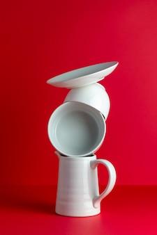 Composizione dei piatti. creativo. concetto. design del prodotto.