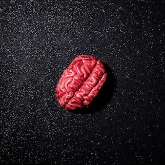 Composizione del cervello umano falso per halloween