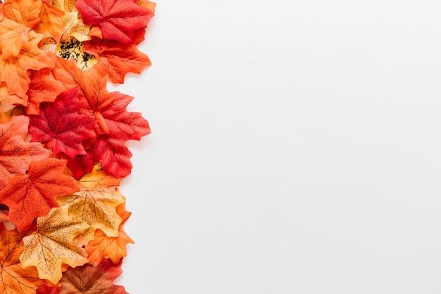 Composizione del confine cornice foglie d'autunno