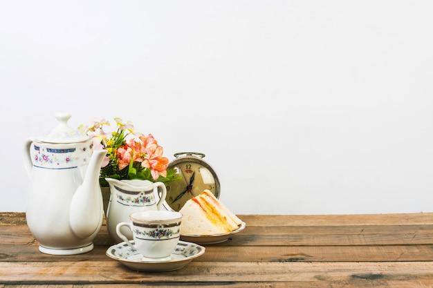 Composizione del tè, set da tè