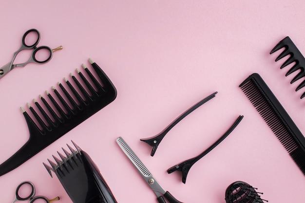 Composizione delle attrezzature per parrucchieri