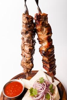 Composizione di cibo messicano piatto laici