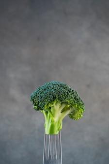 Composizione di cibo sano con broccoli