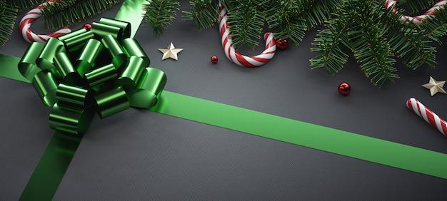Composizione di natale con elementi natalizi.