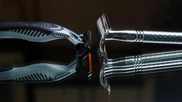 Composizione di oggetti da barba
