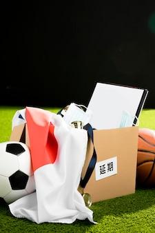 Composizione di oggetti evento sportivo