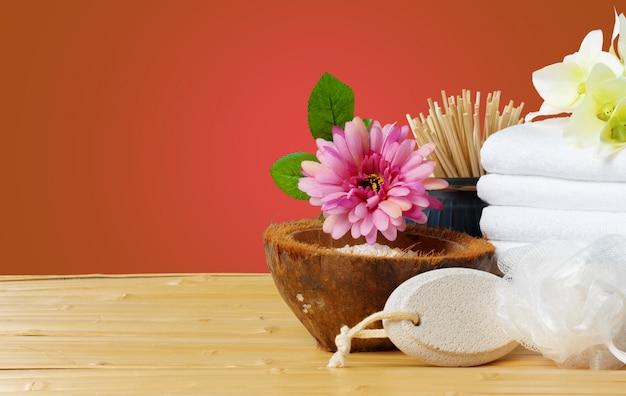 Composizione di prodotti wellness spa