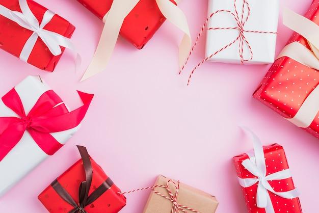 Composizione di regali di san valentino