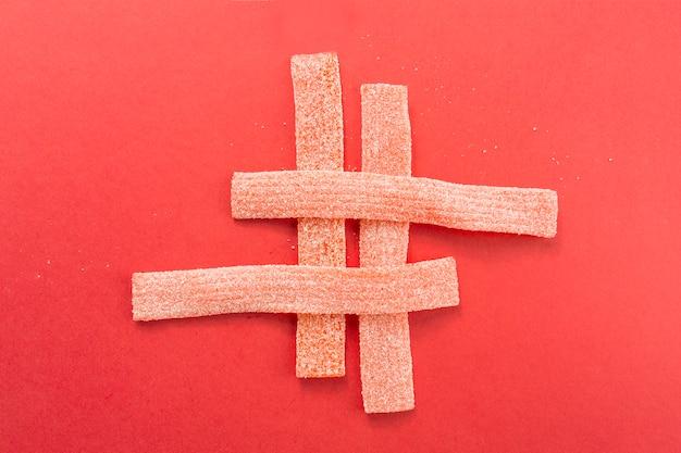 Composizione di strisce di gelatina