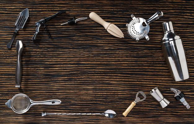 Composizione di strumenti da barista