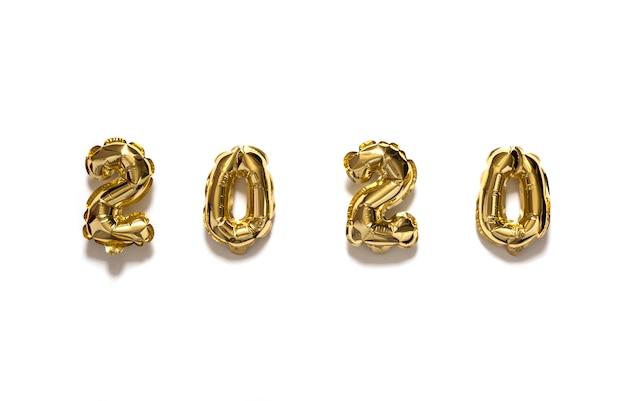 Composizione flat lay del nuovo anno 2020