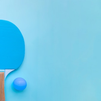 Composizione moderna di ping-pong